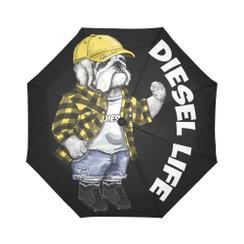Sun Umbrella Lumberjack  Bulldog Diesel Life Umbrella Rain Accessories Bulldog Plaid