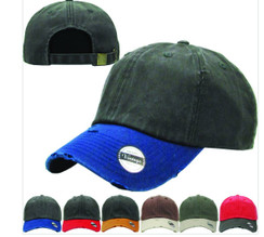 Dad Hat Distressed Two Tone Baseball Cap  Free 1 Location Text