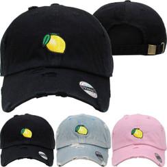 Lemon Lemonade Dad Hat Distressed Baseball Cap  Free 1 Location Text