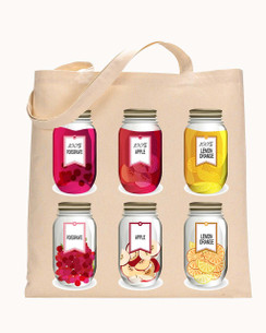 Tote Mason Jar, Lemon, Apple, Tote bag