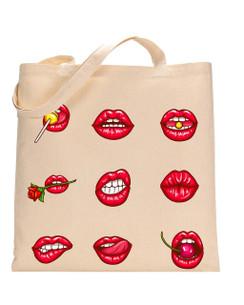 Tote Bag Lips, Cherry, Tote bag