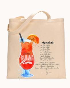 Tote Bag Bahama Mama Mojito, Bloody Mary, Pina Colada, Margarita, Cosmopolitan Drinks, tote