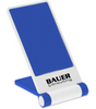Custom Printed Cell Phone Stand - White/Blue
