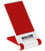 Custom Printed Cell Phone Stand - White/Red