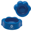 Paw Shaped Pet Bowls with Custom Imprint - Blue