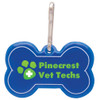Promotional Bone Shaped Reflective Dog Collar Tags - Blue