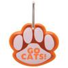 Paw Shaped Promotional Reflective Dog Collar Tags - Orange