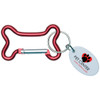 Dog Bone Carabiner with Promotional Imprint - Red