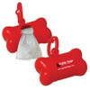 Custom Printed Bone Shaped Pet Waste Bag Dispenser - Red