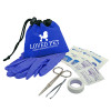 Promotional Pet First Aid Kit with Drawstring - Blue