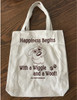 Cotton Canvas Tote Bag - Wiggle & a Woof