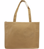 Promotional Full Color Reusable Tote Bags, Non-Woven - Tan
