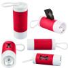 Dog Poop Bag Dispenser Flashlight with Custom Imprint - Red