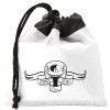 Promotional Drawstring Gift Bag Pouch with Custom Imprint - White