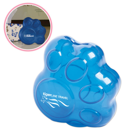 Paw Shaped Bank with Customized Imprint
