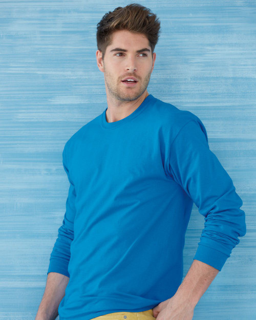 Custom Printed T-Shirts - Gildan 2400 Long Sleeve