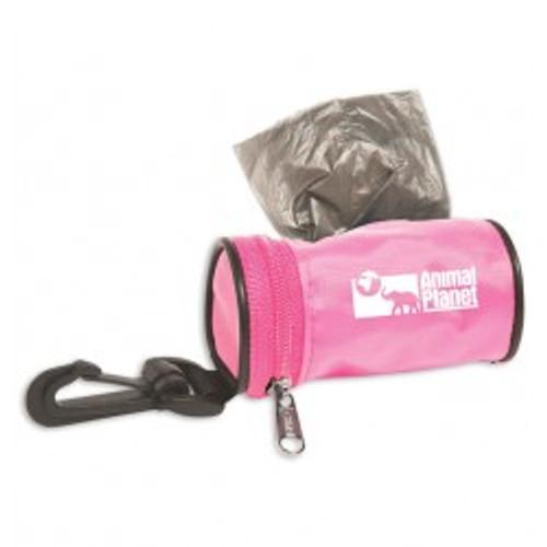 Poopy Pet Dog Waste Bag Dispensers, Custom Printed Nylon - Pink