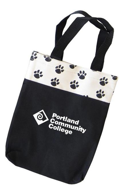 Custom Printed Paw Print Tote Bag - Small