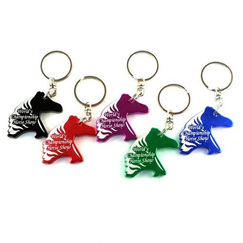 Horse Head Key Chain with Custom Imprint