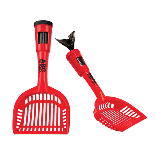 Promotional Pet Pooper Scooper with Trash Bags - Red