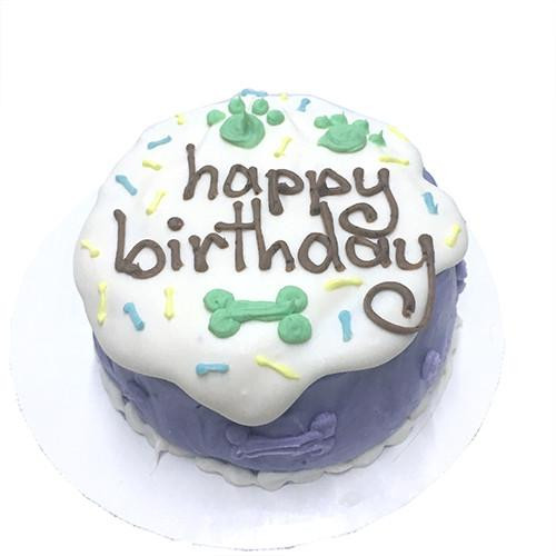 Customized Sprinkle Birthday Cakes for Dogs, Organic - PURPLE
