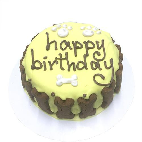 Customized Birthday Cakes for Dogs - All Natural, Organic - YELLOW