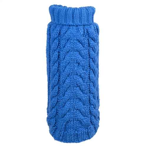 Hand Knit Turtleneck Sweater for Dogs, Blue