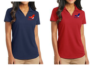 FAITH LUTHERAN LADIES V-NECK POLO