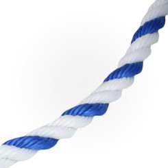 "3/4"" Safety Rope Blue & White, by the foot ( 3/4ROPE)"