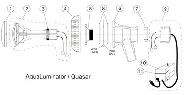 Aqualuminator / Quasar Light Parts