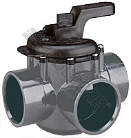 "Pentair 3-Way Valve, 2"" x 1.5"" (263037)"