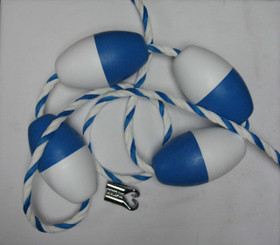 18' Safety Rope & Float Set with Hooks (ROPE3/4-18)
