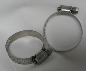 "HOSE CLAMP, SS 1-5/16"" X 2-1/4"", Set of 2"