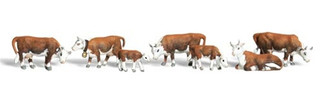A2144 Woodland Scenics N Scale Scenic Accents(R) Animal Figures Hereford Cows