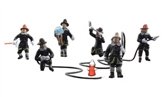A1961 HO Scale Woodland Scenics Rescue Firefighters
