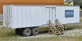 949-2901 HO Walthers SceneMaster Construction Site Storage Trailer Kit