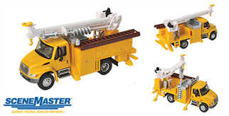 949-11732 HO Walthers(R) SceneMaster International 4300 Utility Truck w/Drill-Assembled