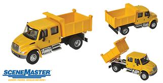 949-11632 HO Walthers SceneMaster International 4300 Crew Cab Dump Truck