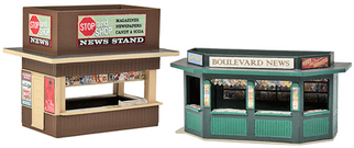 933-3773 HO Walthers Cornerstone(R) News Stands Kit