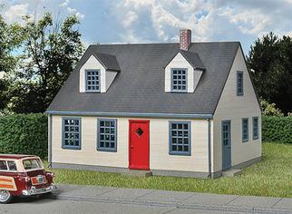 933-3776 HO Walthers Cornerstone(R) Cape Cod House Kit