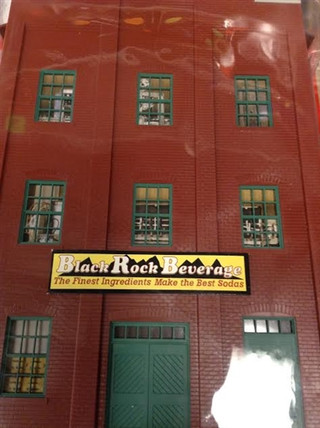 933-2717 O/O-27 Walthers Cornerstone Background Buildings Set-Black Rock Beverage &  City Litho Company