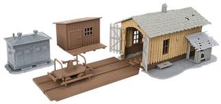 931-909 HO Walthers Trainline Trackside Tool Buildings Kit