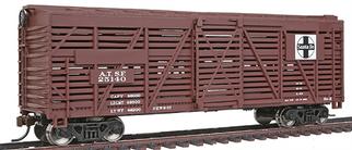 931-1681 Walthers Trainline 40' Stock Car-Atchison, Topeka & Santa Fe