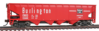 931-1657 Walthers Trainline 40' Offset Quad Hopper-Chicago, Burlington & Quincy