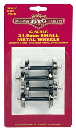 92422 G Bachmann Big Haulers 24.5mm Small Metal Wheels