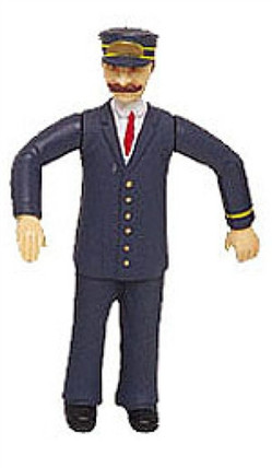 92332 G Bachmann Motorman w/Blue Uniform