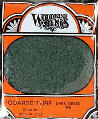 T65 Woodland Scenics Coarse Turf Dark Green 12 oz