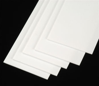 "90642 Plastruct Strip Stock Styrene .030"" x 24"""