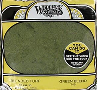 T49 Woodland Scenics Blended Turf Green 30 oz