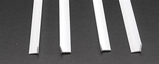 """90507 Plastruct Inc Angle Styrene 5/16"""" x 24"""""""